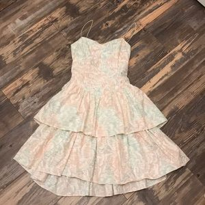 All that Jazz vintage sweetheart ruffled dress